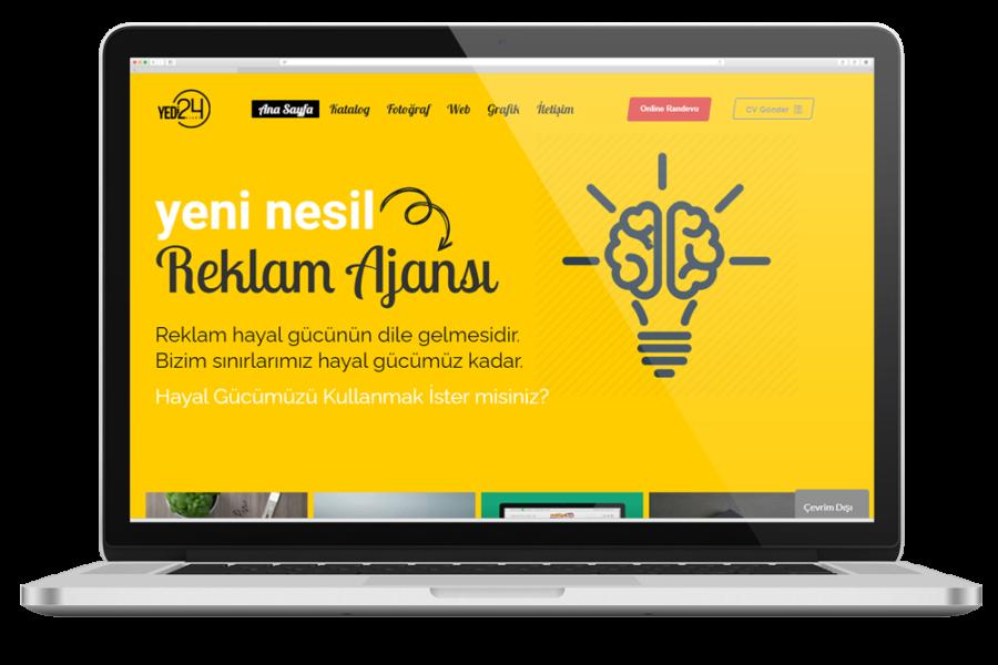 Ajans Yedi24 Web Sitesi