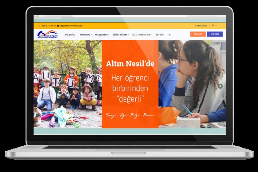 Altın Nesil Okulları Web Sitesi